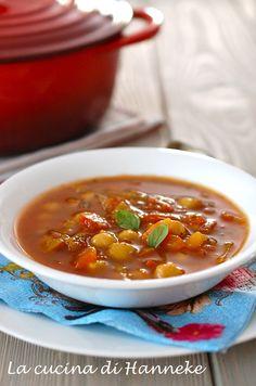 zuppa di ceci marocchina Italian Cooking, Chana Masala, Thai Red Curry, Chili, Recipies, Hot, Food And Drink, Pasta, Ethnic Recipes