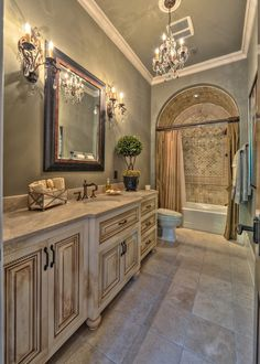 53 Modern Mediterranean Decor with Combination Color is part of Mediterranean bathroom Sea blues are especially great for this and even mixing somewhat yellow in there too can be an excellent idea - Mediterranean Bathroom, Mediterranean Home Decor, Mediterranean Architecture, Design Toscano, Style Toscan, Plans Architecture, Tuscan House, Tuscan Decorating, Tuscan Style