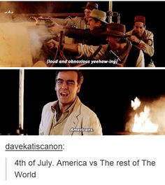 """I love how Americans celebrate their independence by literally blowing stuff up and setting stuff on fire like """"yes suckers guess who's fREe anD PRouD wiTH ExpLOSioNS and We kNow HOw TO USe THEm"""" ABJ"""