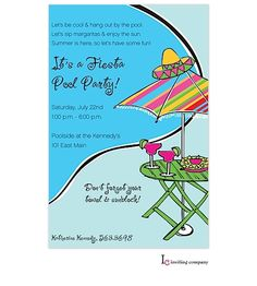 Pool Party Invitations Triple Flops Flip Flop Invitations
