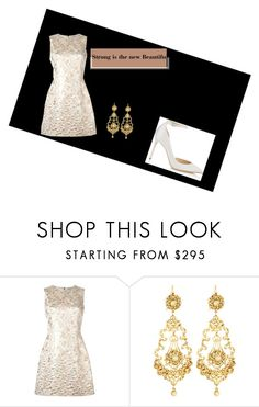 """""""Untitled #145"""" by kemgirl ❤ liked on Polyvore featuring Dolce&Gabbana, Jose & Maria Barrera and Jimmy Choo"""