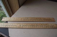 Smokey The Bear 2 Vintage Wooden Rulers Prevent Forest Fires Dont Play With Matc