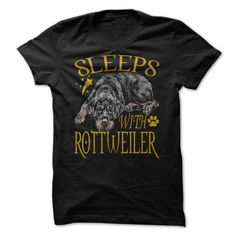 SLEEPS WITH ROTTWEILER T-Shirts, Hoodies. VIEW DETAIL ==► https://www.sunfrog.com/Pets/SLEEPS-WITH-ROTTWEILER-90851909-Guys.html?id=41382