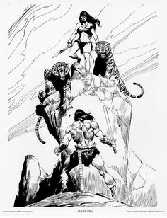 John Buscema ~ The Conan Portfolio