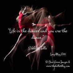 You are the dance! http://www.theballetblog.com/