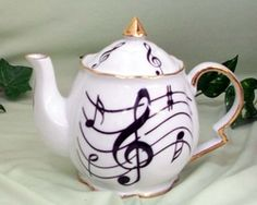 Fielder Keepsakes - Music Notes Teapot 5 Cup New Arrivals