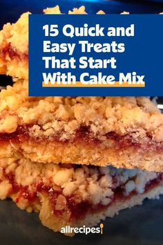 "15 Quick and Easy Treats That Start With Cake Mix | ""Cookies, apple crisps, ice cream, and even cinnamon rolls — all made a little quicker and easier by using cake mix as a starting point. Here are 15 of our favorite treats you can make with cake mix, besides cakes."" #dessertrecipes #dessertideas #sweettreats"