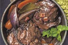 Really meaty casserole Beat the January blues with a big dish of warming comfort food. This casserole uses ox cheek which is delicious slow cooked, it can be brought from your local butchers and some branches of Waitrose.