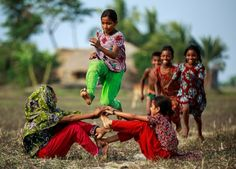 childhood is fun! :) Children of a rural area in #Bangladesh