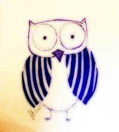 Handsome owl drawing by Maryam Kazemivakilabadi