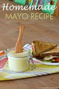 Homemade Mayo Recipe -- if you think making homemade mayo is a little intimidating, try this easy recipe on for size. It has my hubby's stamp of approval!