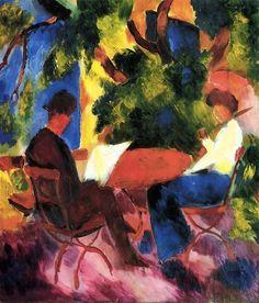 Agust Macke At the garden table 1914