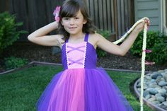 RAPUNZEL dress TUTU  dress Princess dress by loverdoversclothing, $52.00