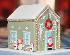 Christmas Cookie Cottage with white branches - Maisonnette… | Flickr