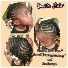 Desi's Hair  Cornrow Styles with barrettes