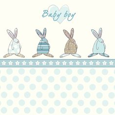 Rufus Rabbit kort baby boy