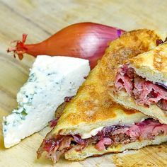 Blue Cheese Steak and Red Onion Jam Panini