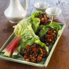 30 Minutes or Less: Watermelon Board | Pork Lettuce Wraps