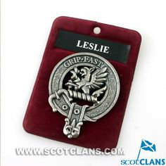 Leslie Clan Crest Cap Badge