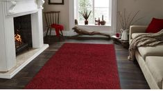 A house is never complete without a carpet or an area rug. Rugs enhance the look and feel of any interior living space and provide a touch of warmth to cold tile or marble floors. Rugs In Living Room, Living Spaces, Red Runner Rug, Red Rugs, Carpet Colors, Cool Rugs, Rugs Online, Online Home Decor Stores, Colorful Rugs