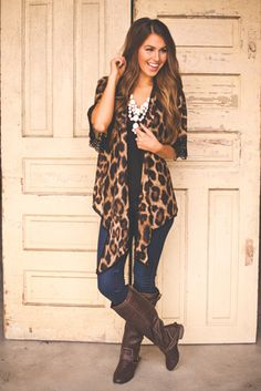 Chiffon Leopard Cardigan - ($42.00) From Dottie Couture Boutique - Via Wanelo - Want, Need, Love! <3