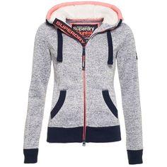 Superdry Storm Zip Hoodie ($94) ❤ liked on Polyvore featuring tops, hoodies, blue, women, zip up hoodie, zipper hoodie, zip up hoodies, blue zip hoodie and hooded pullover
