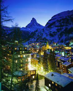 En lo alto de una pista negra (si os van las emociones fuertes), por ejemplo en Zermatt