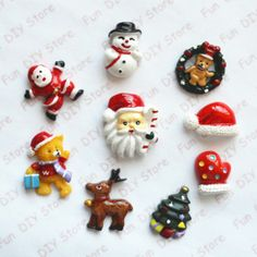 50pcs Christmas Gift Box Bowknot Wooden Buttons Craft Scrapbooking 2 holes 31mm