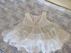 Vintage Her Majesty Baby Tiered Ruffled Slip 12