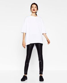 Image 1 of OVERSIZED HIGH NECK SWEATSHIRT from Zara