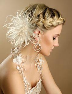bridal hairstyle Coiffure de mariage / bridal hair style My old hair styles Braided Hairstyles For Wedding, Short Wedding Hair, Formal Hairstyles, Braided Updo, Pretty Hairstyles, Braid Hairstyles, Bridesmaid Hairstyles, Hairstyle Ideas, Hair Ideas
