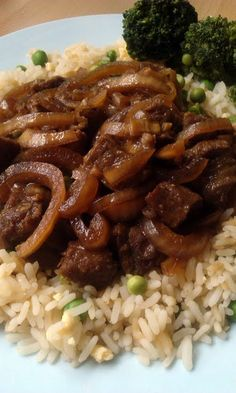 """Vickys Slow-Cooker Mongolian-Style Beef, Gluten, Dairy, Egg & Soy-Free! """"This is a delicious sweet tasting dish that you can make with chicken or lamb as well as beef. I prefer to add veggies on the side but you could add in carrots, bell peppers, cabbage, anything you like really. Enjoy!""""  @allthecooks #recipe"""
