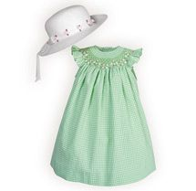 Garden Check Float Dress - Baby Girls' Dresses, Baby Boys' Outifts