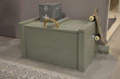 Steigerhouten kist gespoten in Army Green. Ideaal voor al het speelgoed van je kind.