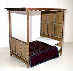 Hey, I found this really awesome Etsy listing at https://www.etsy.com/listing/213995493/medieval-canopy-bed-rustic-dollhouse