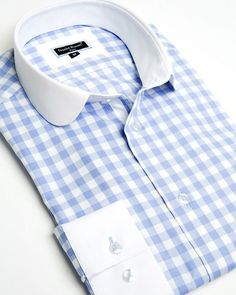 Franck Michel shirt - Claudine Gingham Blue - Limited Edition