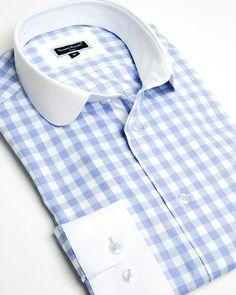 Franck Michel shirt - Claudine Gingham Blue - Limited Edition