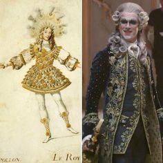 Did you know that King Louis XIV was known for his sens of fashion and love of dance ? He was part of 27 ballets in his life and even dance in an extravagant outfit (left picture) playing Apollon, Greek God of light. #didyouknow #louisxiv #sunking #dance #beautyandthebeast #danstevens #beast #prince #adam #theenchantress1991 #beautyandthebeast2017 #beautyandthebeastliveaction #history