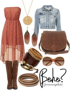 Boho in Suede Boots, created by jemevangelista on Polyvore