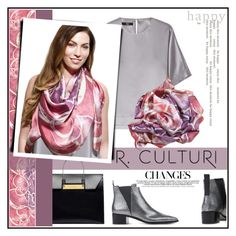 """""""Premium, beautifully designed silk scarf."""" by allanaaa11 ❤ liked on Polyvore featuring Balenciaga, Steffen Schraut, Acne Studios and modern"""