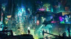 Cyberpunk City by artursadlos.deviantart.com on @DeviantArt