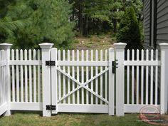 Image result for fence yard gate vinyl