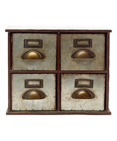 Look what I found on #zulily! Four-Drawer Tin Cabinet #zulilyfinds