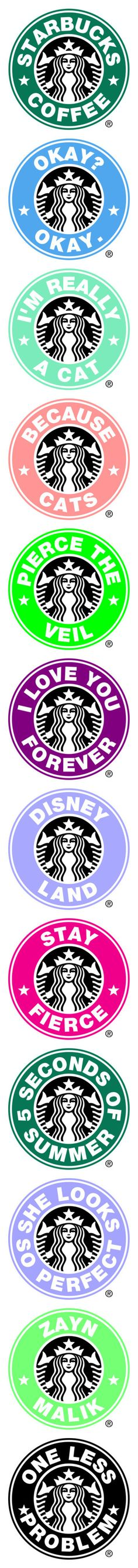 """""""Starbucks logo's"""" by desyrae-carstensen ❤ liked on Polyvore featuring fillers, words, green fillers, logo's, pictures, starbucks logos, backgrounds, other, starbucks and bands"""