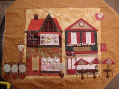 Hooley Dooley Village Patch Quilt - China Shop and Pearls Tea Room