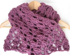 Chunky Lilac Lace Scarf  Upon request by matemo on Etsy, €20.00