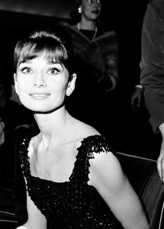 A radiant Audrey Hepburn, 1960s.