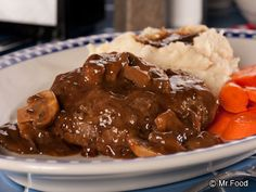 Diner Style Salisbury Steak - This 1950s-style diner recipe was a hit with our newsletter subscribers. Serve up this old-fashioned Salisbury steak recipe to the family with a side of mashed potatoes and veggies.