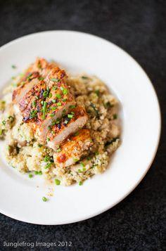 Spicy chicken with quinoa