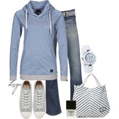 Casual Outfits | Grey & Blue | Fashionista Trends